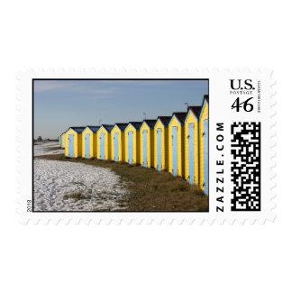 Beach huts stamp