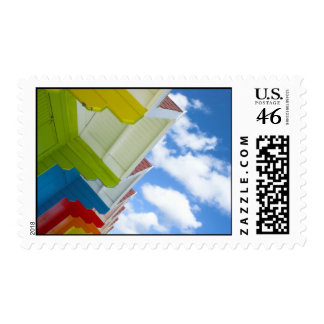 Beach Huts Postage Stamps