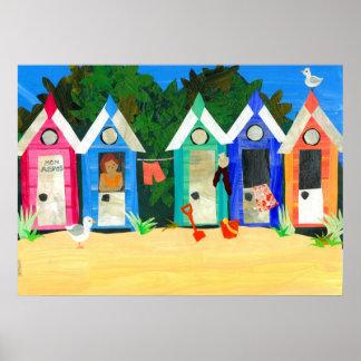 'Beach Huts' Poster