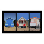 Beach Huts Poster