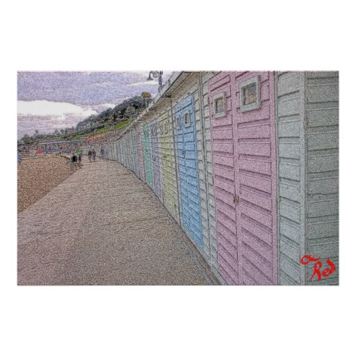 Beach Huts Posters