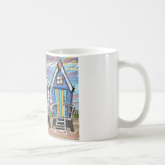 Beach Huts RWB Coffee Mug