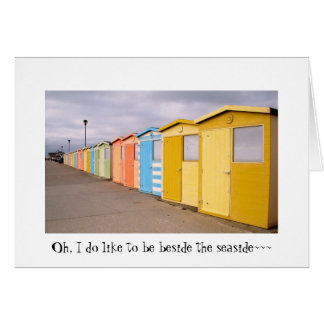 Beach Huts Stationery Note Card