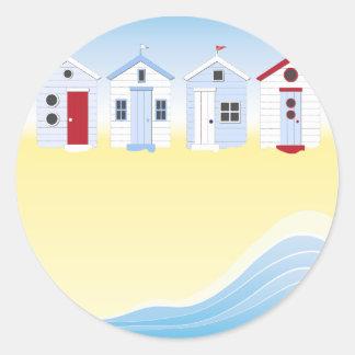 Beach Huts Stickers