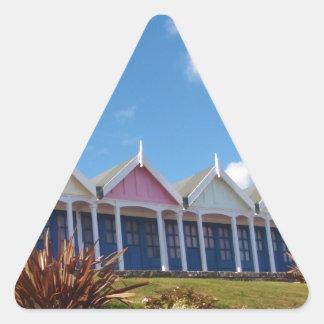 Beach Huts Triangle Sticker