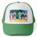 'Beach Huts' Trucker Hat hat