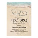 Beach I DO BBQ Engagement Party Invitation