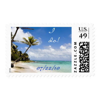 Beach I Do! Wedding Postage Stamps