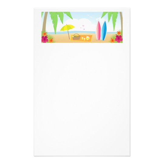 Beach Illustrated Stationery