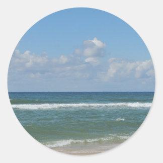 Beach Image Classic Round Sticker