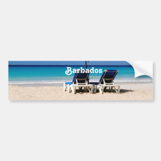 Beach in Barbados Bumper Stickers