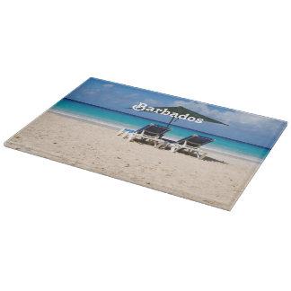 Beach in Barbados Cutting Board