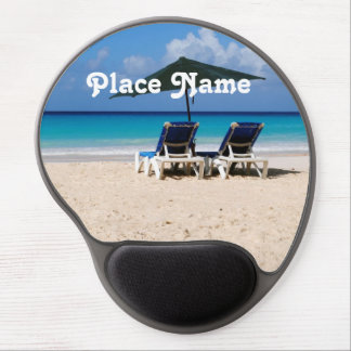 Beach in Barbados Gel Mouse Pad