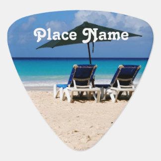 Beach in Barbados Guitar Pick