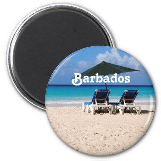 Beach in Barbados Fridge Magnet