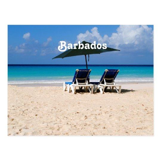 Beach in Barbados Postcard