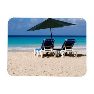 Beach in Barbados Rectangular Magnet