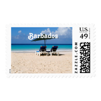 Beach in Barbados Stamp