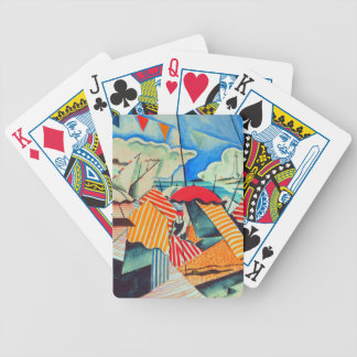 Beach in Biarritz (France) by Bedrich Feurstein Bicycle Playing Cards