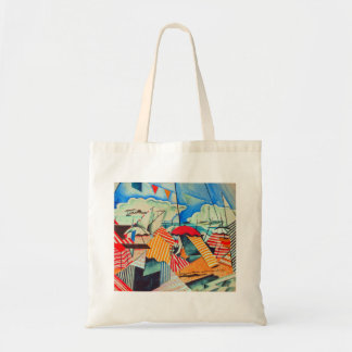 Beach in Biarritz (France) by Bedrich Feurstein Tote Bag