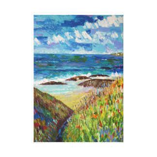 Beach in Brittany Canvas Print