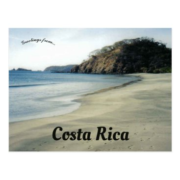 Beach in Costa Rica Postcard