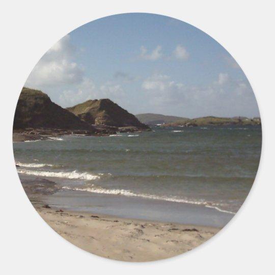 Beach in Donegal,Ireland Classic Round Sticker
