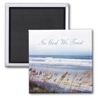 Beach - In God We Trust - Magnet