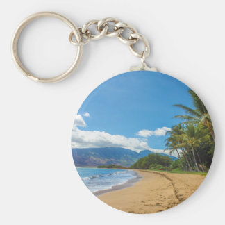 Beach in Hawaii Keychain