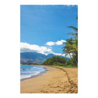 Beach in Hawaii Stationery
