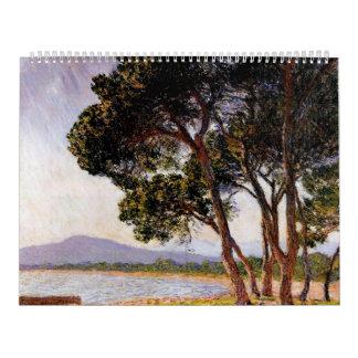 Beach in Juan-les-Pins - Claude Monet Wall Calendar
