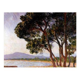 Beach in Juan-les-Pins - Claude Monet Postcard