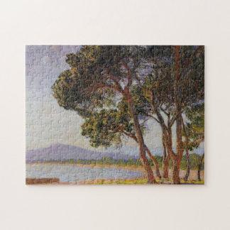 Beach in Juan-les-Pins Monet Fine Art Puzzle
