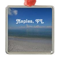Beach in Naples Metal Ornament