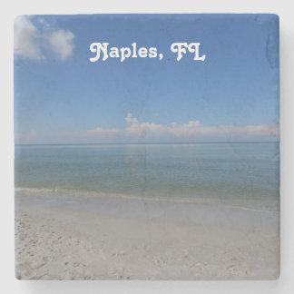 Beach in Naples Stone Coaster