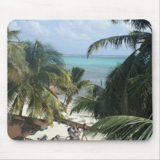 Beach in San Pedro, Belize Mouse Pads