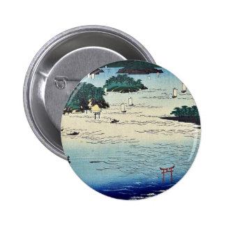 Beach in Sanuki Province by Utagawa,Hiroshige Buttons