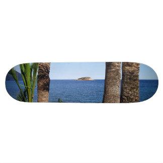 Beach in the Albir, Altea, Alicante, Spain Skateboard Deck