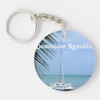 Beach in the Dominican Keychain