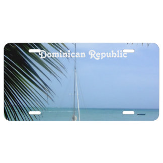 Beach in the Dominican License Plate
