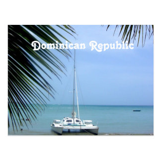 Beach in the Dominican Postcard