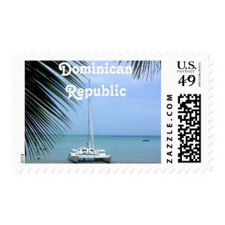 Beach in the Dominican Stamp