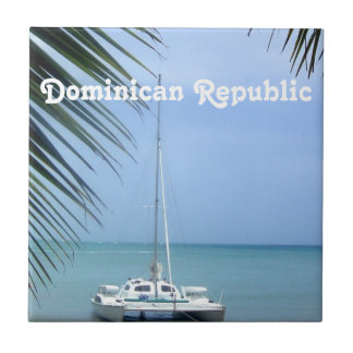 Beach in the Dominican Tile