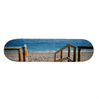 Beach in Villajoyosa, Alicante, Spain Skateboard