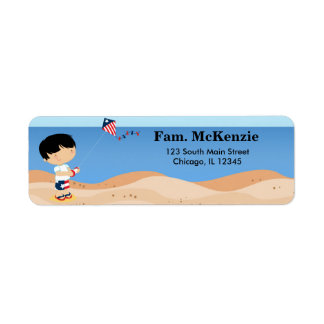 Beach independence day party return address label