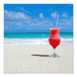 Beach 5.25x5.25 Square Paper Invitation Card