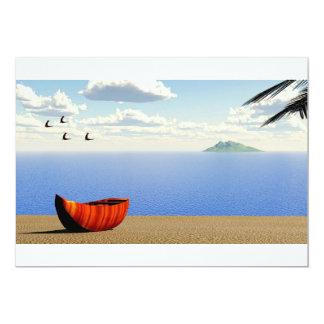 beach invitation card