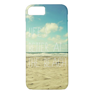 Beach iPhone 7 case ocean typography