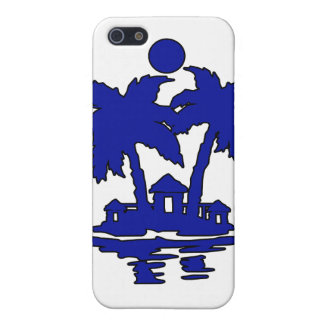 beach island houses blueoutline invert.png iPhone 5 case
