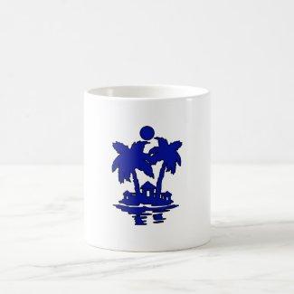 beach island houses blueoutline invert.png coffee mug